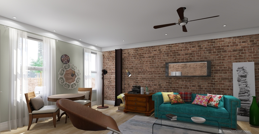 Condo Chicago Interior Design Render