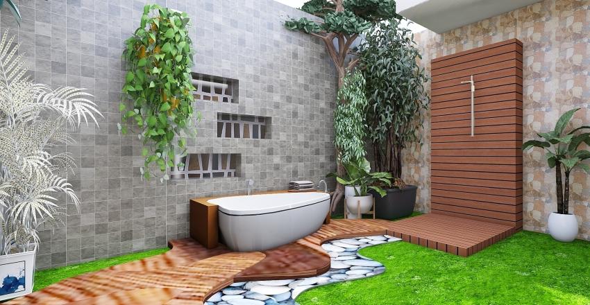 Indoor Courtyard House Interior Design Render