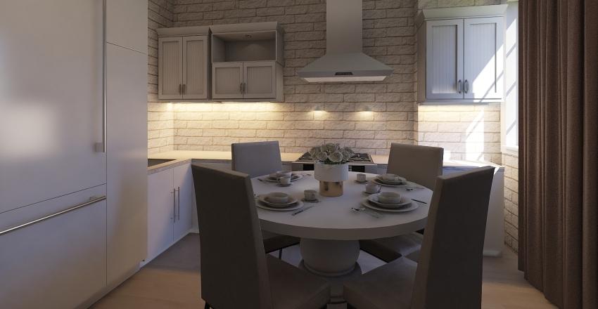 bright kitchen Interior Design Render
