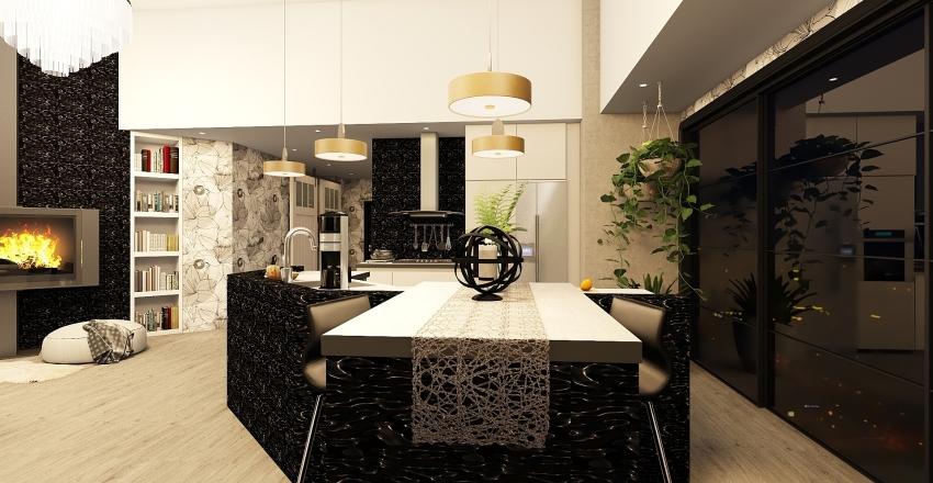 Condo modern touch Interior Design Render