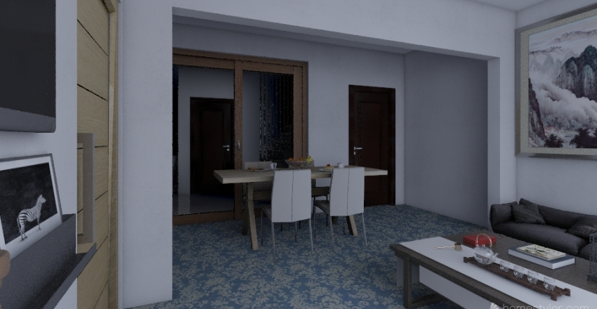 Small Traditional House  Interior Design Render
