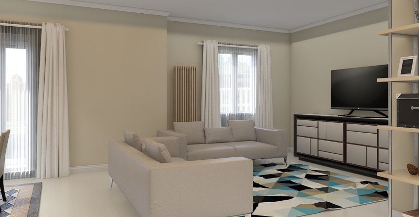 VIA BRANCATI PROGETTO Interior Design Render