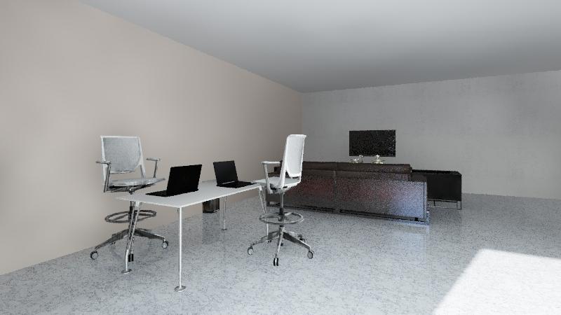 Desain Lantai 1 Interior Design Render