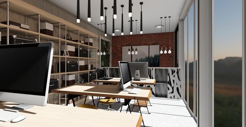 Computer Center,  NY Interior Design Render