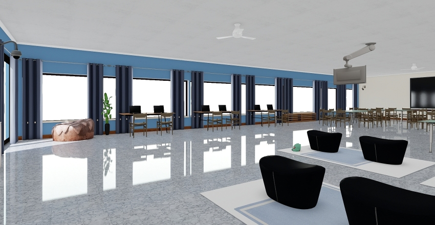 Nuevo Lab de Informática Interior Design Render