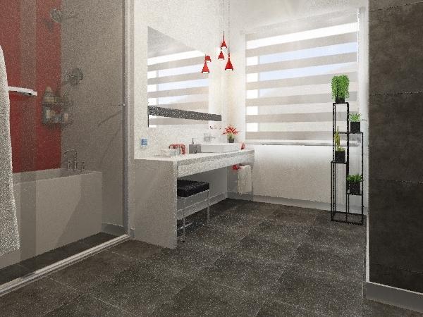 Ванна, вариант 2 День Interior Design Render