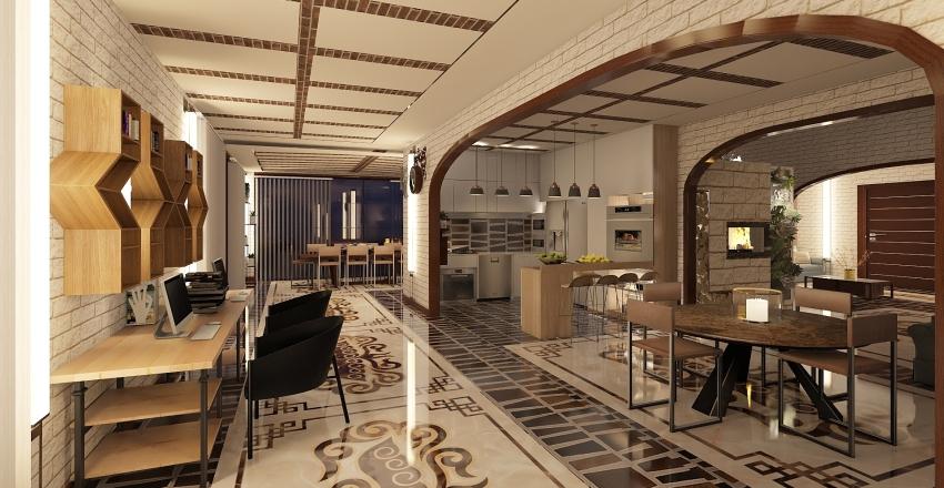 villa ad archi Interior Design Render