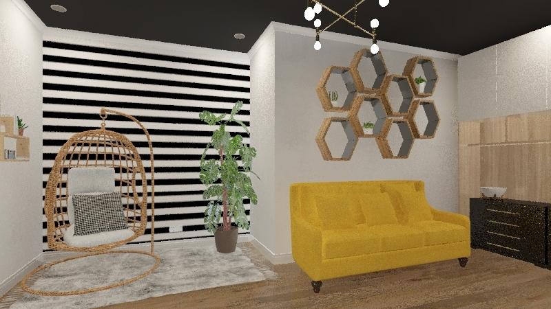 Scandinavian Home Office  Interior Design Render