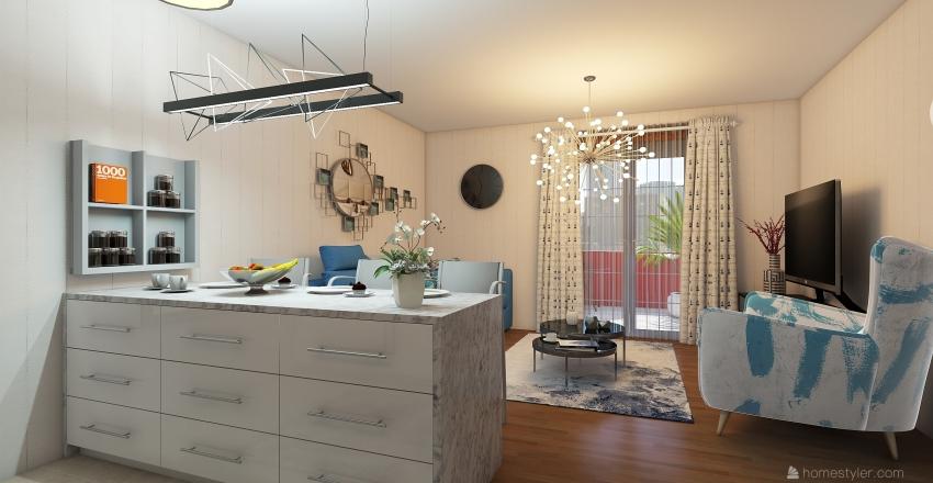 small apartament 4 Interior Design Render