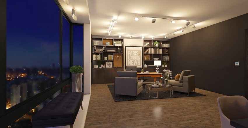 work above the city Interior Design Render