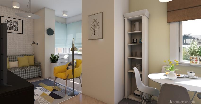podolskaya 6 -1 Interior Design Render