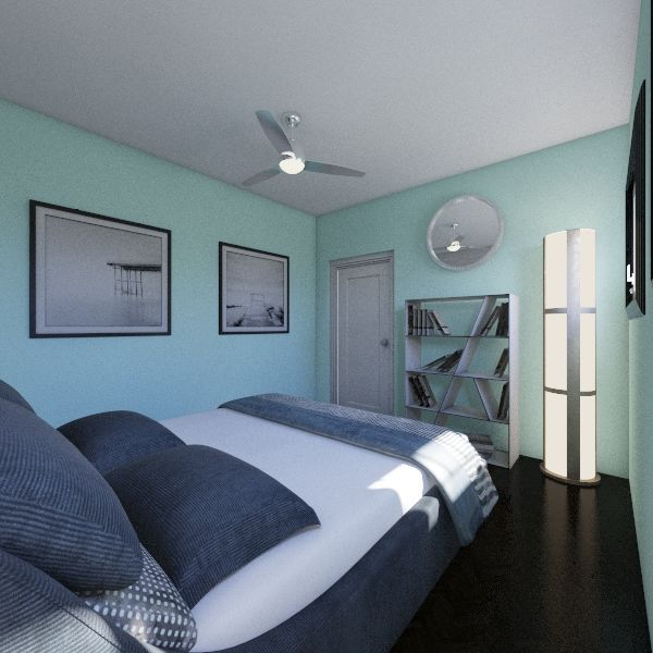 Modern Mint Interior Design Render