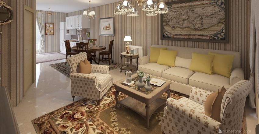 family apartament Interior Design Render