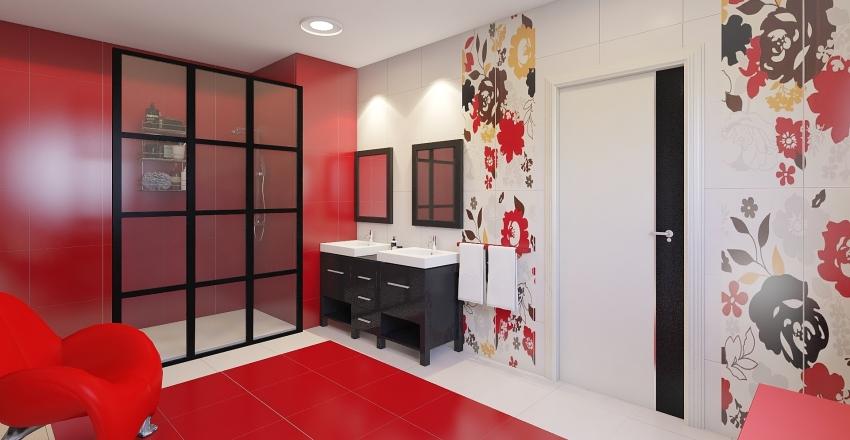Habitación y baño infantil Interior Design Render
