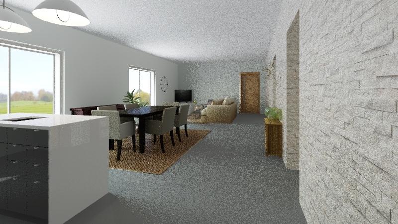 casa Alvre acabada Interior Design Render