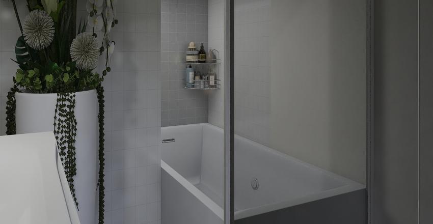 small cozy apartment w/one bedroom Interior Design Render