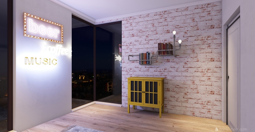 casa pequena  Interior Design Render