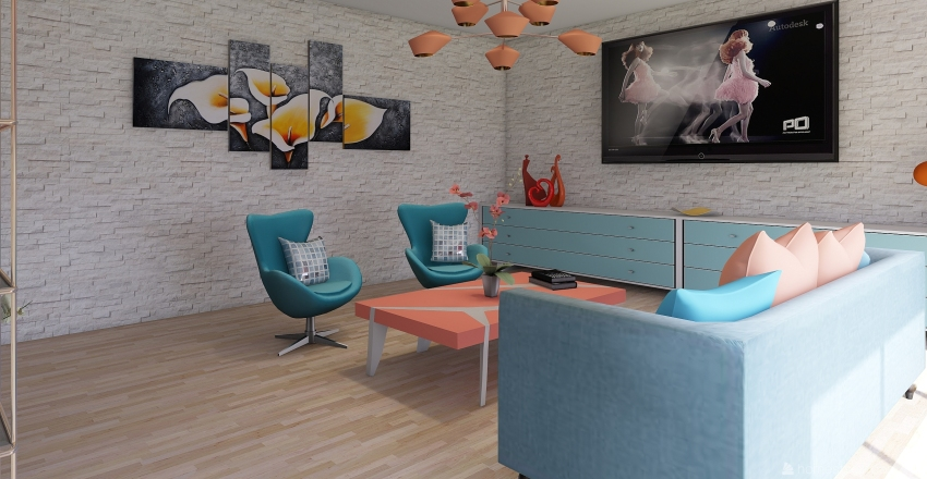 Ejercicio de Color #3 Interior Design Render
