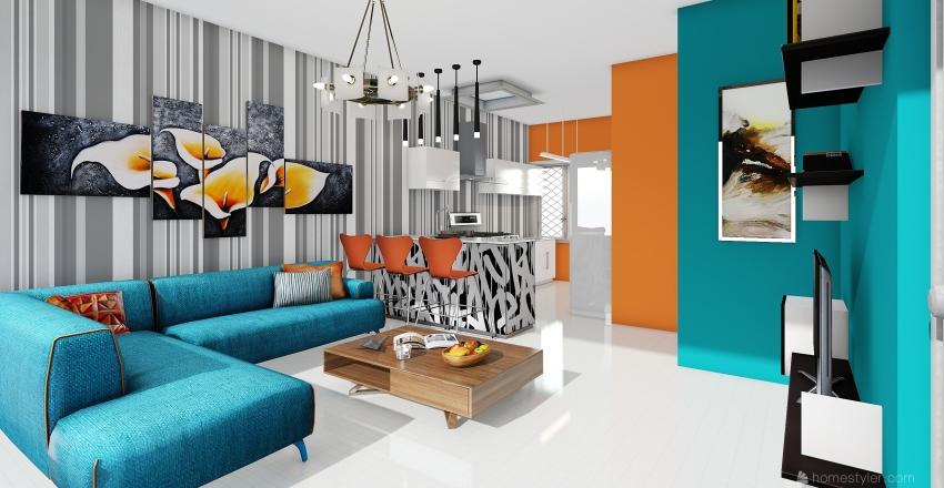 sala comedor Interior Design Render