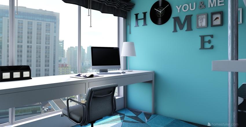 minimalist office Interior Design Render
