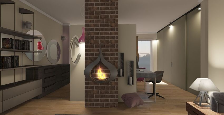 SB Warm Home  Interior Design Render