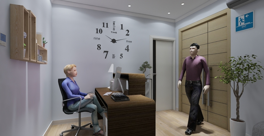 ACT. 4 - Planificación y diseño de la consulta dental Interior Design Render