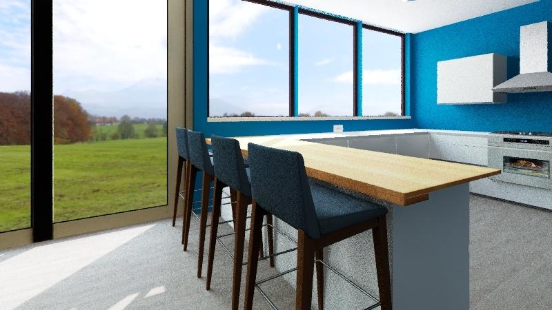 Granny Flat Interior Design Render