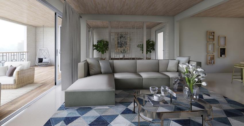 Casa espaçosa Interior Design Render
