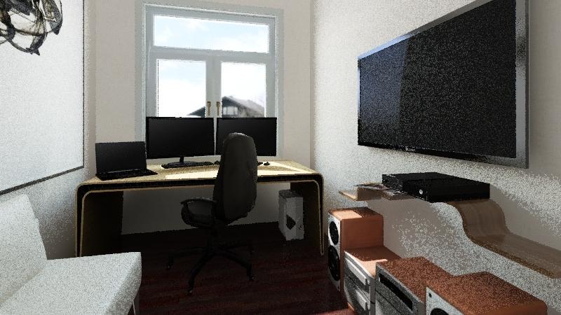 Apartment 62m^2 Interior Design Render