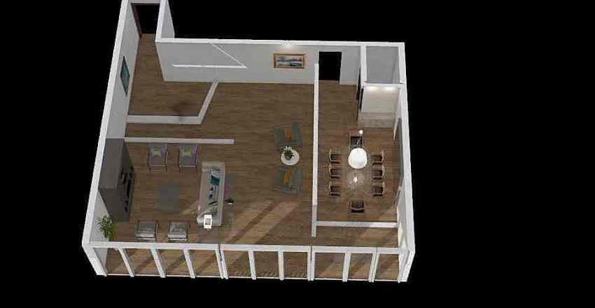 Salas de jantar e de estar Interior Design Render