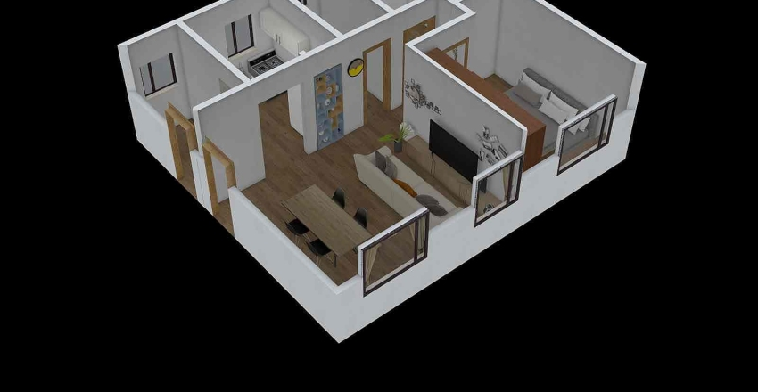 Apto Mae 5 Interior Design Render