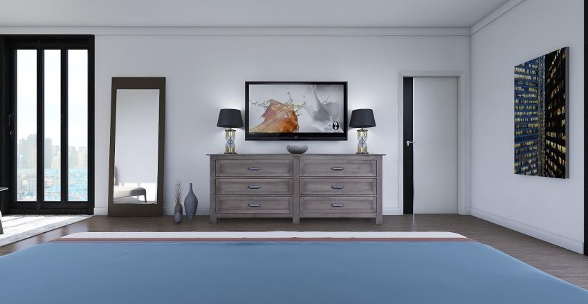 Moody Bedroom Interior Design Render