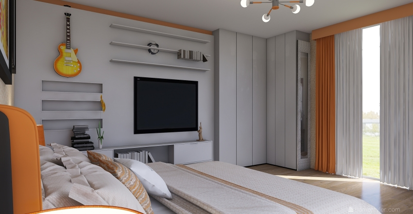 Estilo contemporáneo Interior Design Render