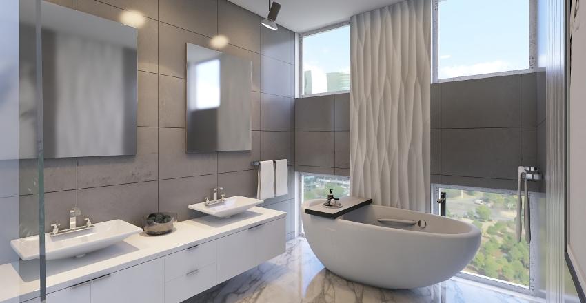 Habitación de hotel de lujo  Interior Design Render