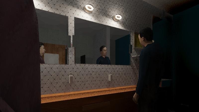 BAÑO HOMBRES  Interior Design Render