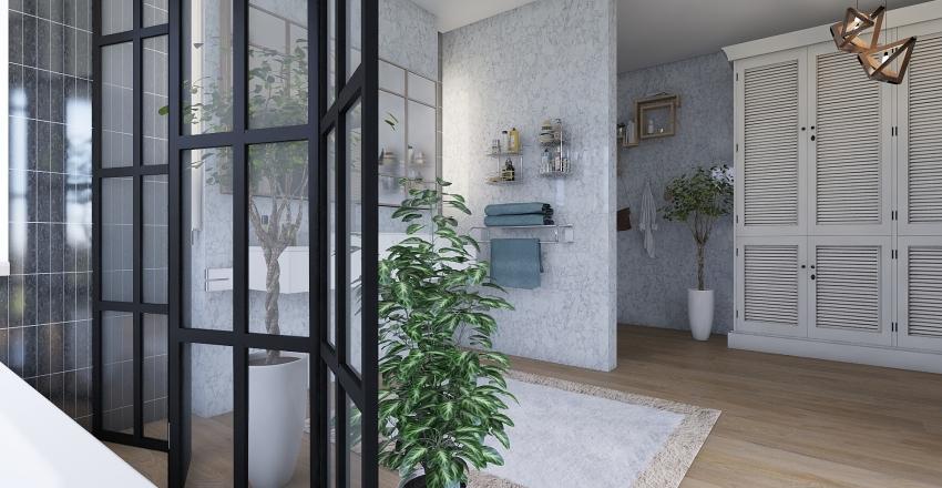 Modern Style Bathroom Interior Design Render