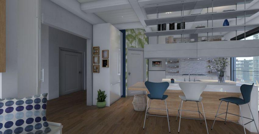 Mid_Century Modern Design Interior Design Render