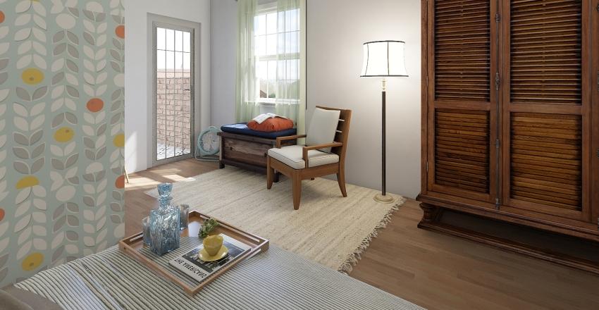 Retro Interior Design Render