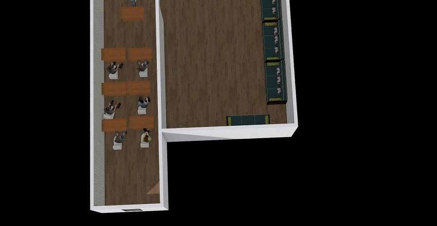 Suvremena ucionica Interior Design Render
