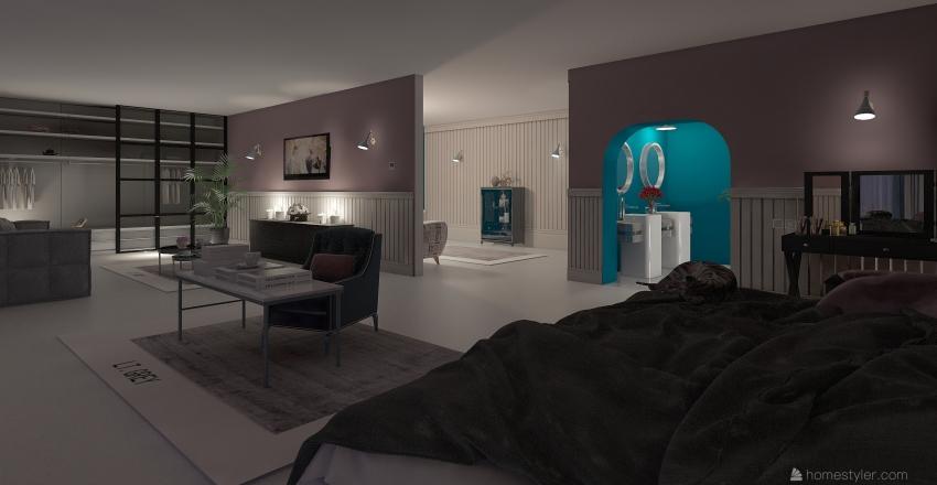 Master bed room Interior Design Render