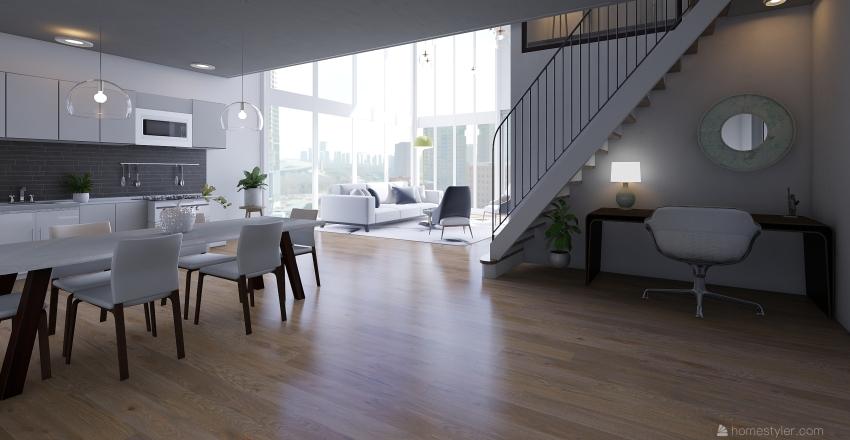 luxury loft  Interior Design Render