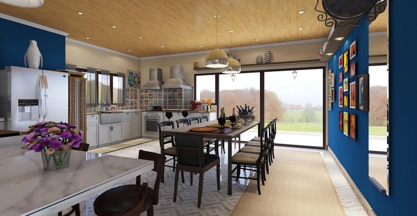 Expansion room kitchen, residence Interior Design Render