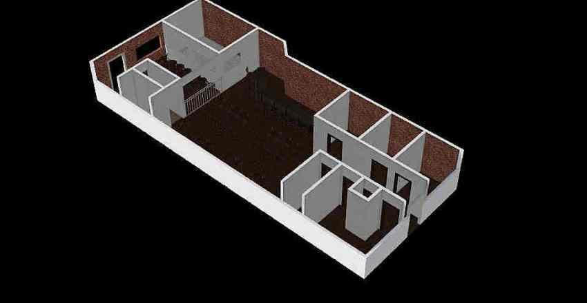 First Floor Drop Half Seating Interior Design Render