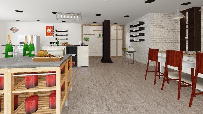 TIENDA ALIMENTACION GOURMET Interior Design Render