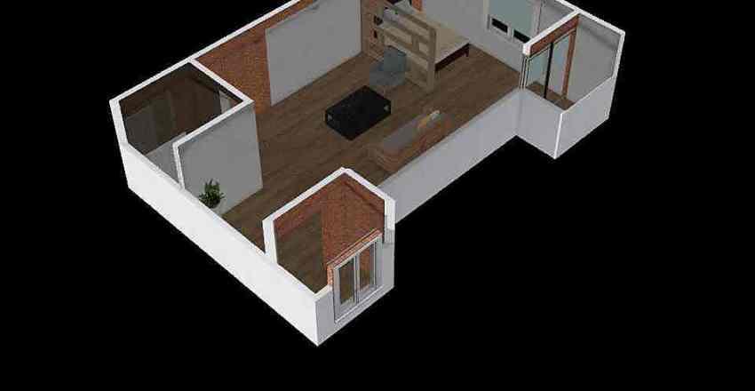 segundo piso finca Interior Design Render