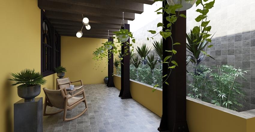 Boho House Interior Design Render