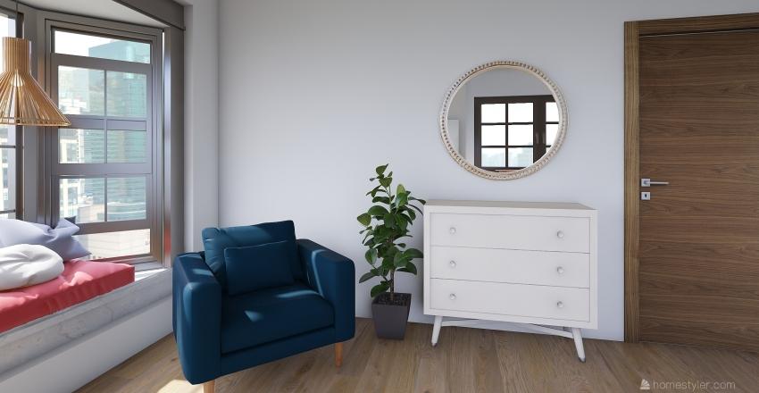 Teen Bedroom Interior Design Render
