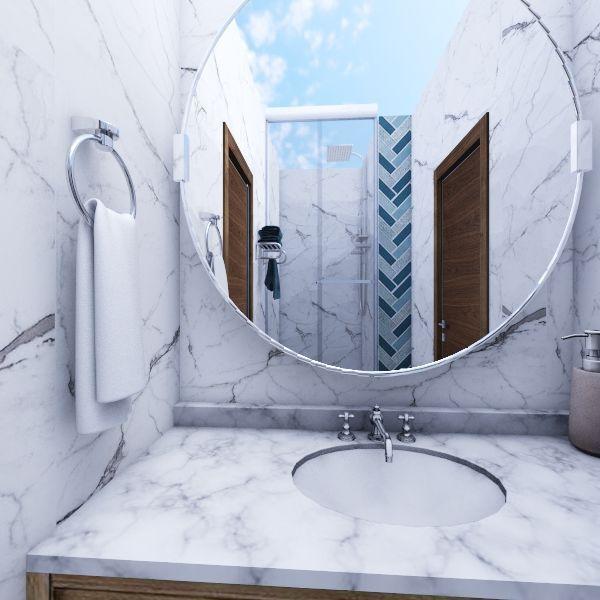 Baño y Habitacion Interior Design Render