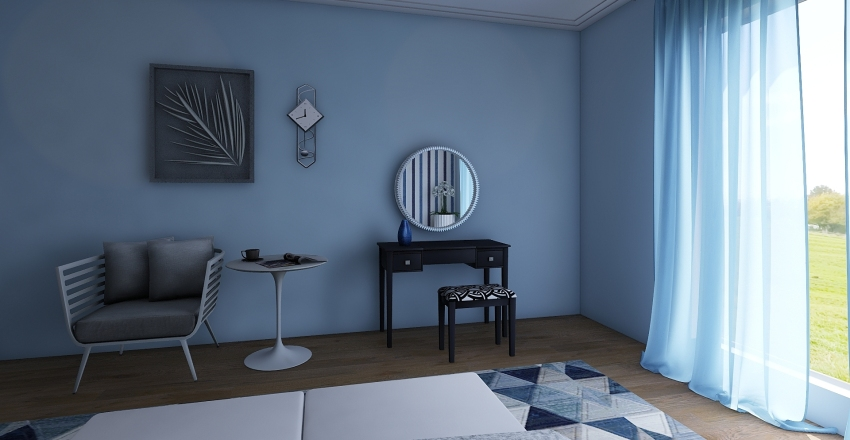 BlueBedroom  Interior Design Render
