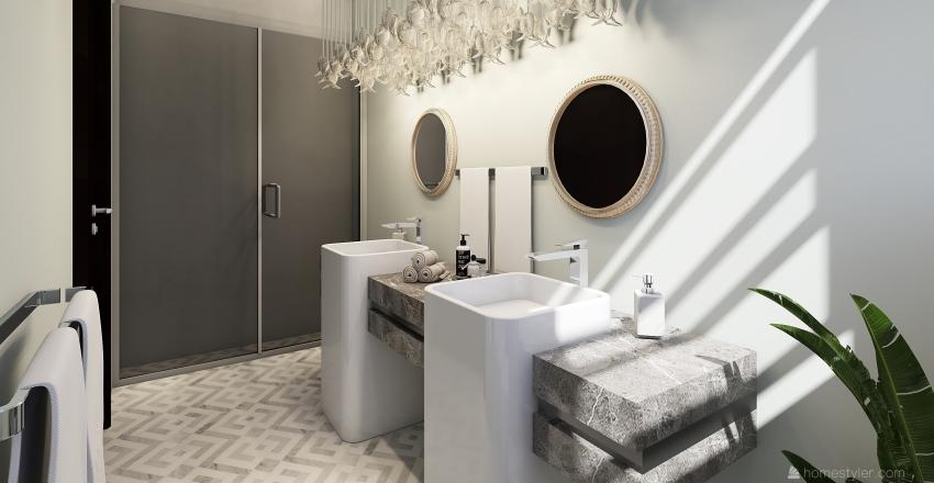 Modern one story house 28x36 Interior Design Render